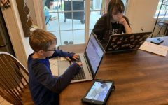 COVID-19 has forced students to work on school at home with or without parent help.