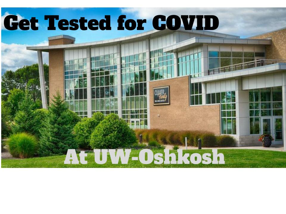 Getting tested for COVID-19 at UW-Oshkosh takes mere minutes