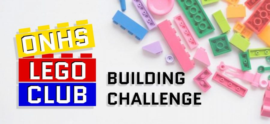 ONHS LEGO CLUB's first building challenge champion