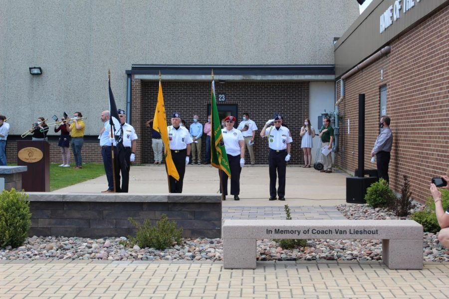 Communities at Oshkosh North dedicated a courtyard to veterans on May 14, 2021.